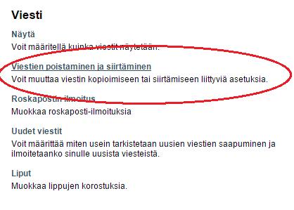 Horde-sähköpostin viestien poisto
