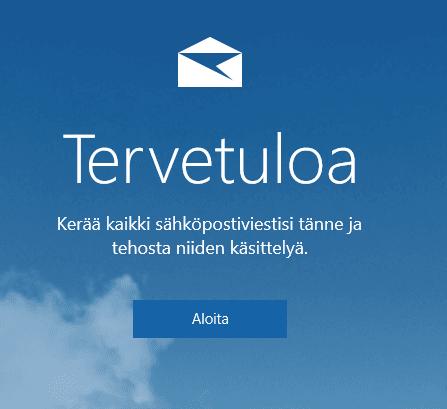 Windows 10 sähköpostitilin luominen