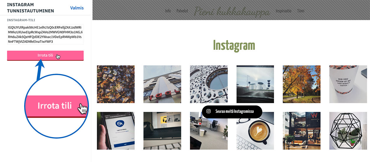 Instagram-irrota