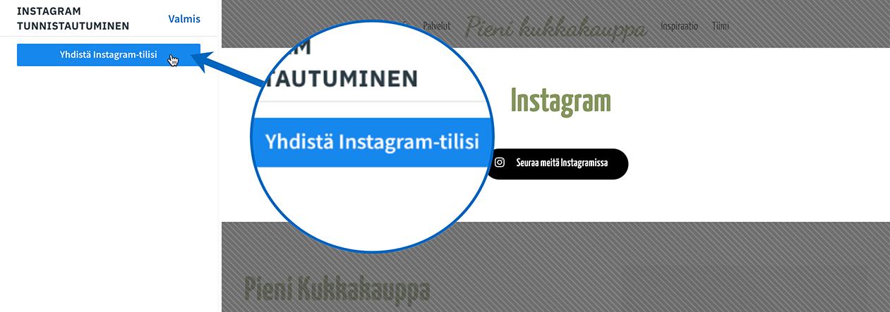 Instagram-yhdista