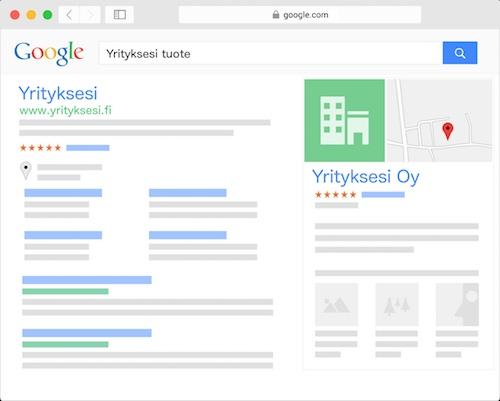 Yritys Googlessa, hakukoneoptimointi